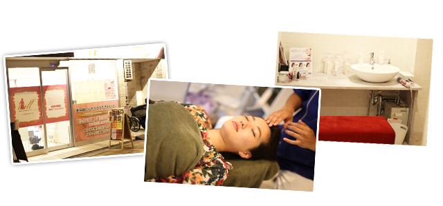 3つの施術中の画像